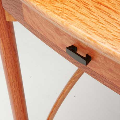 The Dancer hall table in she oak, wenge and ebony