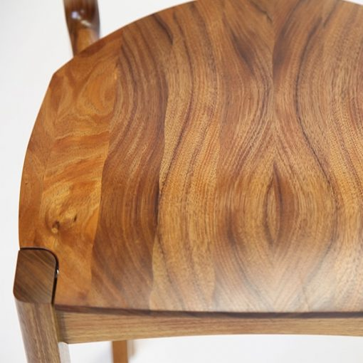 Tamar Bar Stool in Blackwood Seat Detail.