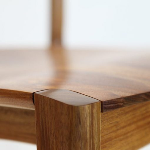 Leg Detail of the Tamar Stool in Blackwood.