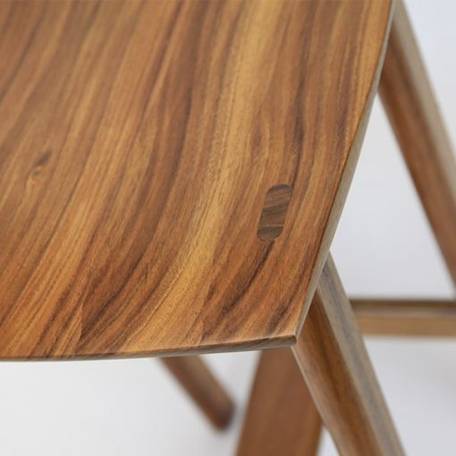 Wave Bar Stool in blackwood (detail)