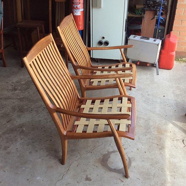 Werriwa Single Lounge Chairs with Pirelli Webbing.