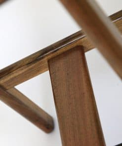 Detail of Wave Bar Stool in Blackwood.