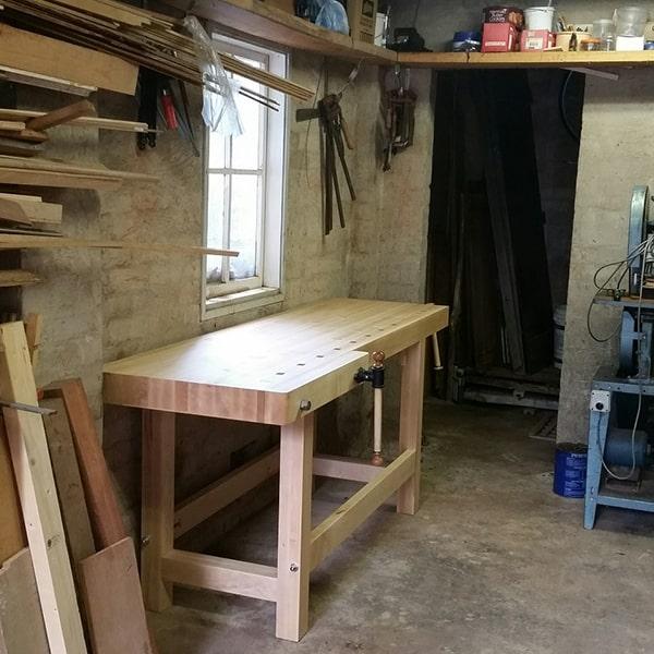 Lie Nielsen workbench in rock maple