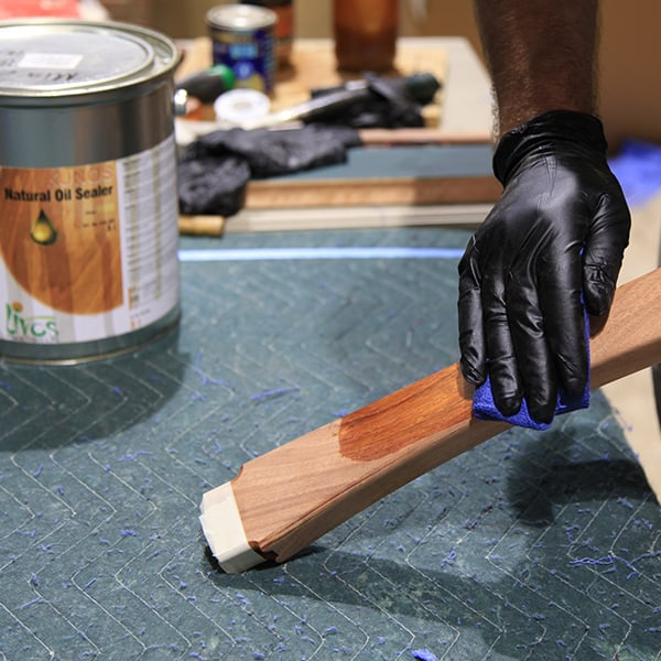 Oiling furniture