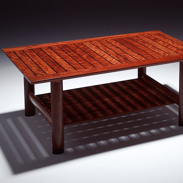 Watershed Coffee Table in red gum