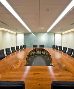 Boardroom Table in solid red gum and silver ash.