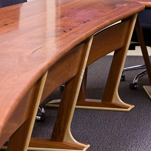 Boardroom Table in solid red gum and silver ash