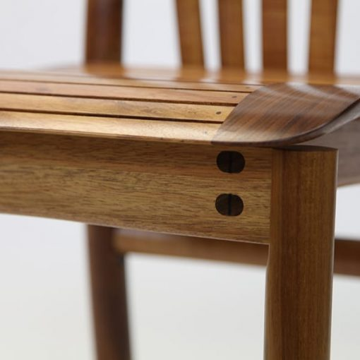 Detail of Clearwater Dining Chair in blackwood