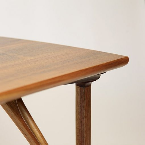 Detail of a Rectangular Confluence Coffee Table in blackwood