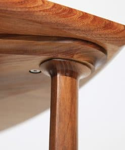 Detail of a Confluence 900mm Coffee Table in blackwood