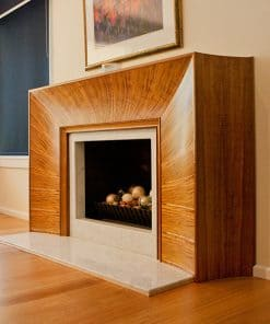 Fireplace in highly figured Otways blackwood