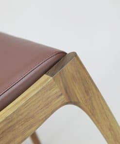 Werriwa low stool in blackwood with leather