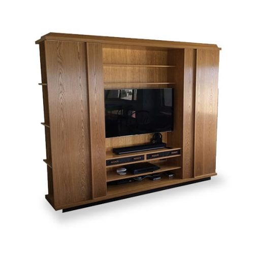 Kingston Entertainment Unit in white oak and bamboo
