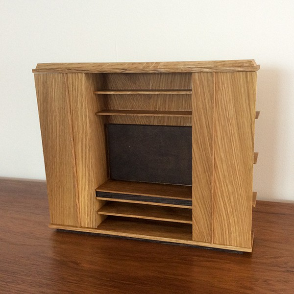 Kingston Entertainment Unit in white oak and bamboo.