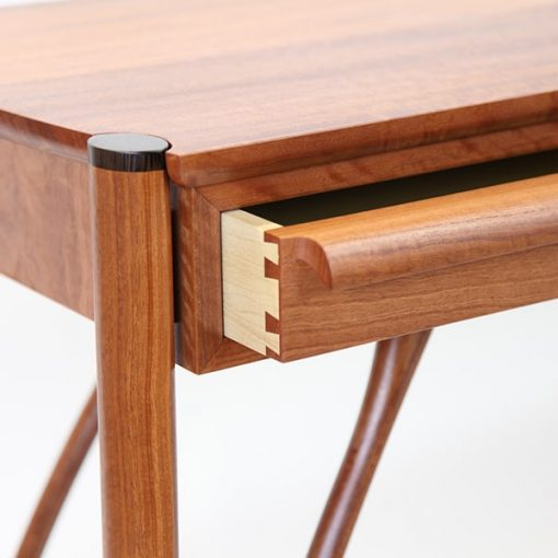Jabiru Side Table in red gum and wenge