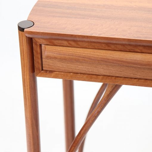 Jabiru Side Table in red gum, rock maple and wenge