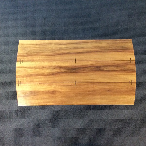 Jindabyne Coffee Table in blackwood with wenge detailing