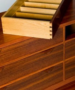 Lakeview 1 Sideboard in jarrah and white oak