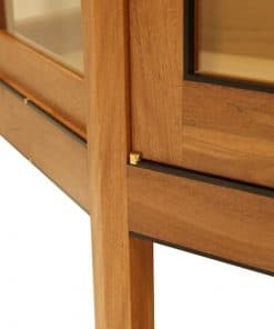 The Linda Display Cabinet in brush box, Australian ebony and rock maple featuring Arch handles