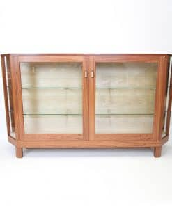 Mandy's display cabinet in red gum and rock maple