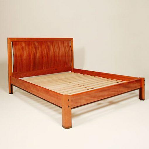 Manuka bed in myrtle with wenge detailing