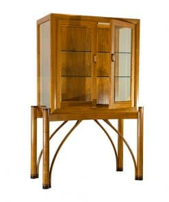 heron blackwood and wenge display cabinet with Arch handles