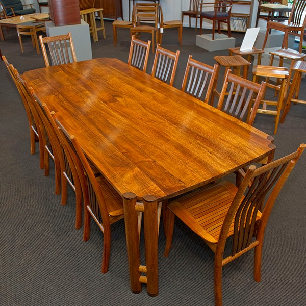 Oxbow dining table with Clearwater chairs
