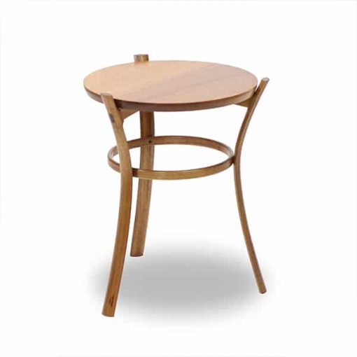 Pirouette Occasional Table in blackwood