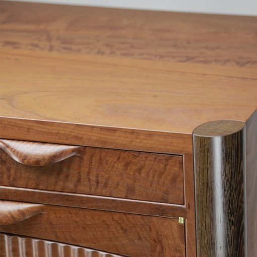 Riverstones 2 Cabinet in highly figured river red gum, wenge and rock maple