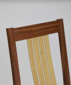 Seren Highback Dining Chair in jarrah with silky oak
