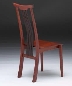 Seren Yoke Dining Chair in jarrah and wenge