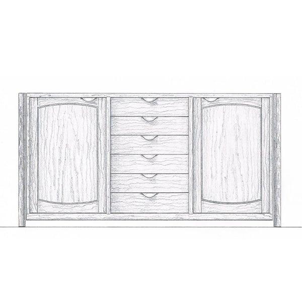 Tonks sideboard drawing