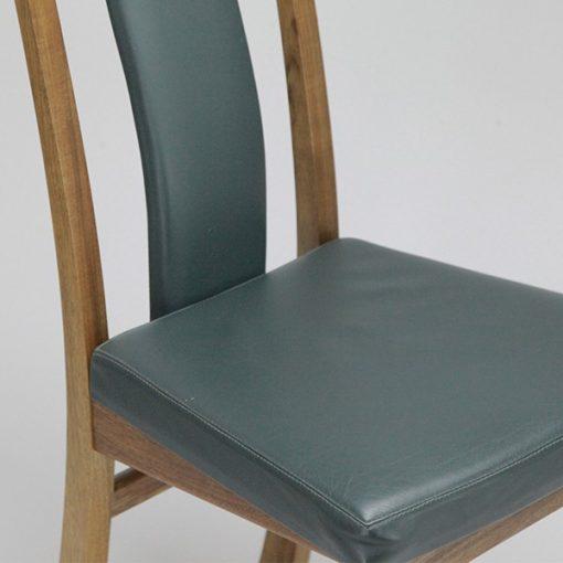 Seren Fully Upholstered Highback dining chair in blackwood