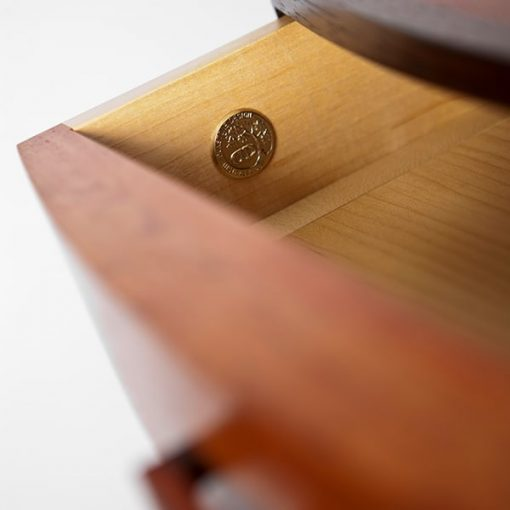 Walliga Bedside Table in red gum and wenge