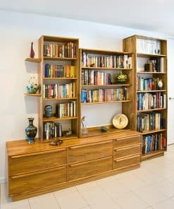 book case and storage in blackwood