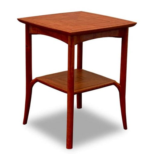 Wren Small Table in red gum.