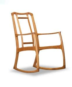 Cascade rocking chair in American cherry