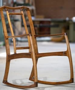 Cascade rocking chair in blackwood