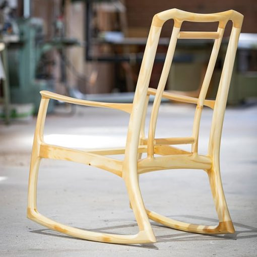 Cascade rocking chair in Huon Pine