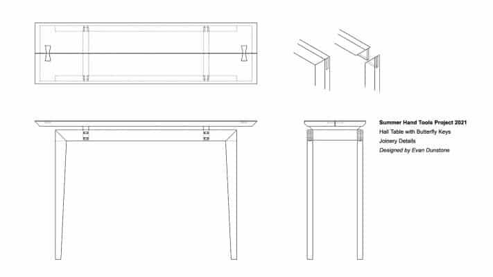 Summer Hand Tools Hall Table Design