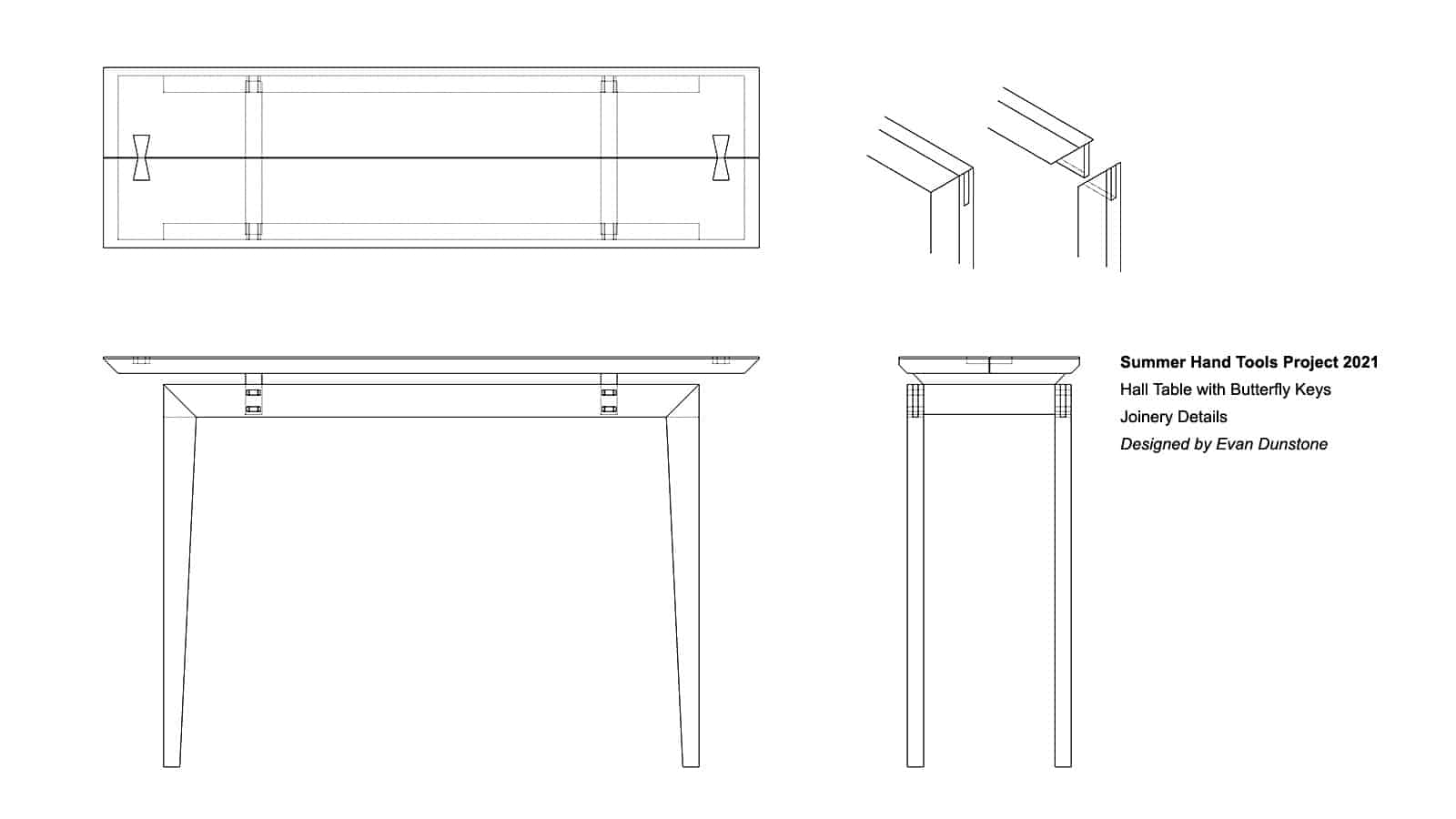 Summer Hand Tools Hall Table Design