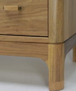 The Gundaroo chest of drawers in blackwood and silky oak