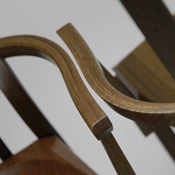 The tight arm laminations of a pair of reproduction Nick Hill Carvers