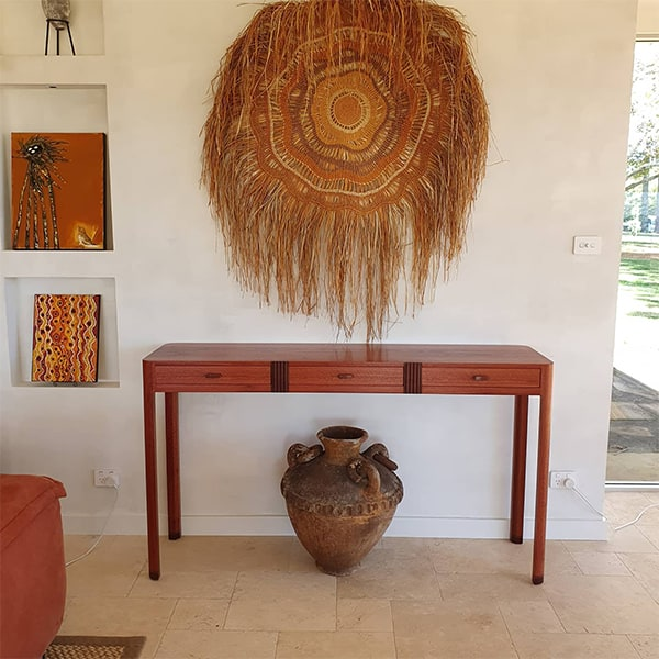 Minderoo Side Table in jarrah, red gum and rock maple