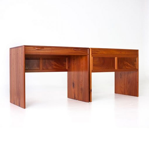 Matching pair of Barrington Desks in Australian red cedar and rock maple