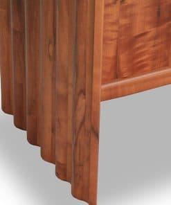 Detail of the Corrugated Desk in fumed myrtle