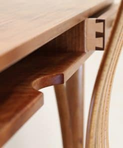 Detail of the Kingston Desk in highly figured blackwood
