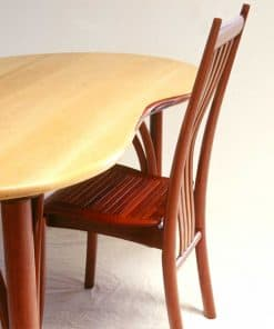 Tripod Desk in rockmaple, red gum and gidgee with Clearwater Chair