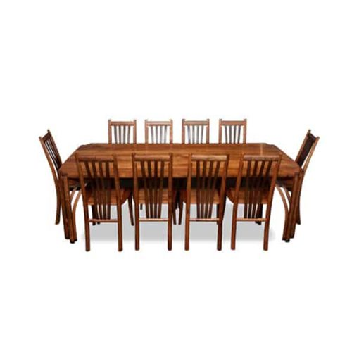 Oxbow dining suite in blackwood